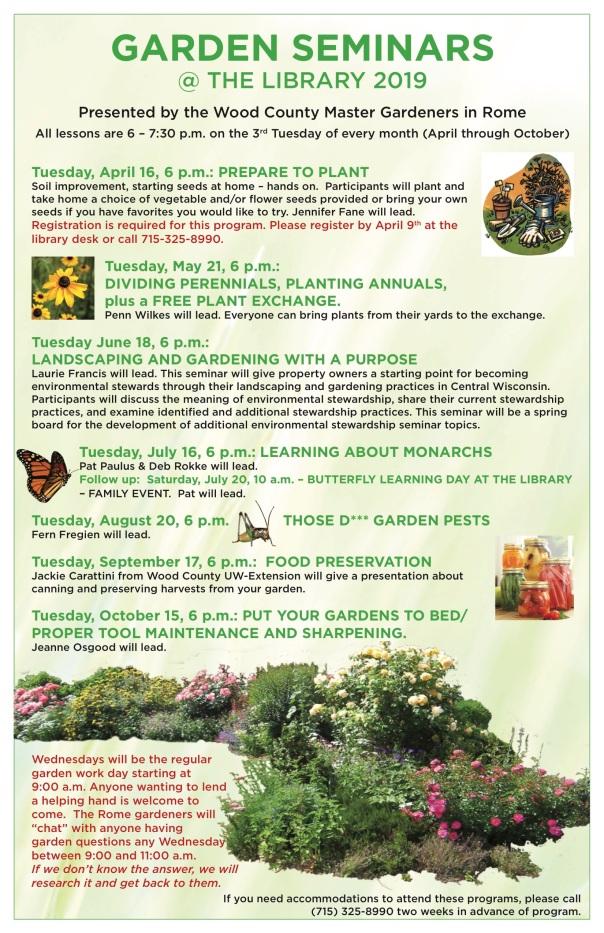 ROM Garden Seminars